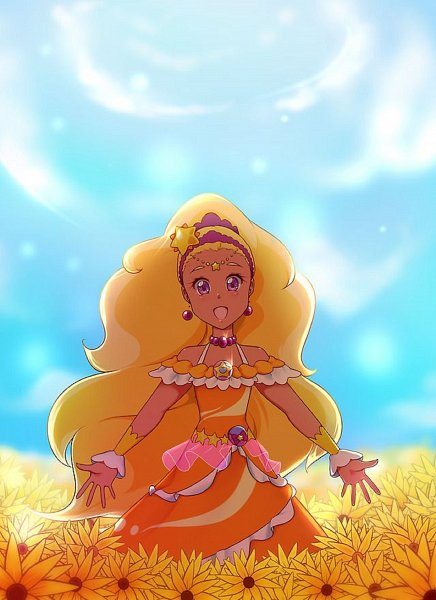 Tags: Anime, Butterfly-latte, Star☆Twinkle Precure, Amamiya Erena, Cure Soleil, Upscale, Tumblr, Fanart, Fanart From Tumblr