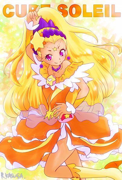 Tags: Anime, Kasuga Ruri, Star☆Twinkle Precure, Amamiya Erena, Cure Soleil, Pixiv, Fanart, Fanart From Pixiv