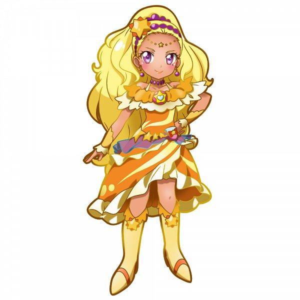 Tags: Anime, Pixiv Id 19421846, Star☆Twinkle Precure, Amamiya Erena, Cure Soleil, Orange Footwear, Fanart From Pixiv, Pixiv, Fanart