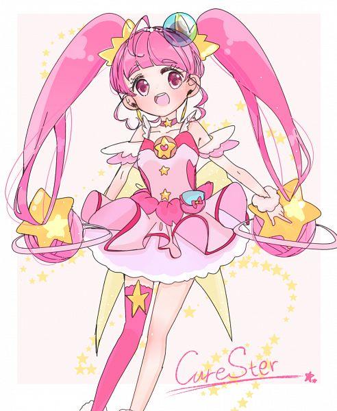 Tags: Anime, Pixiv Id 16504112, Star☆Twinkle Precure, Hoshina Hikaru, Cure Star, Writing Error, Fanart From Pixiv, Pixiv, Fanart