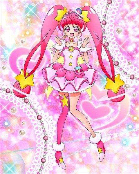 Tags: Anime, Star☆Twinkle Precure, Precure Tsunagaru Puzzlun, Cure Star, Hoshina Hikaru, Official Art