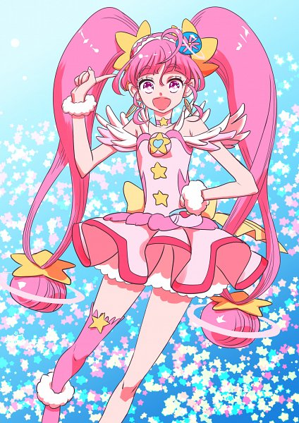 Tags: Anime, Pixiv Id 716103, Star☆Twinkle Precure, Cure Yell, Hoshina Hikaru, Cure Star, Fanart, Fanart From Pixiv, Pixiv