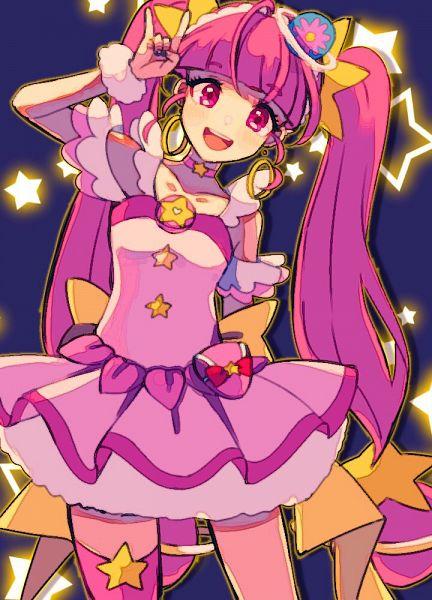 Tags: Anime, Pixiv Id 6685410, Star☆Twinkle Precure, Hoshina Hikaru, Cure Star, Fanart From Pixiv, Pixiv, Fanart