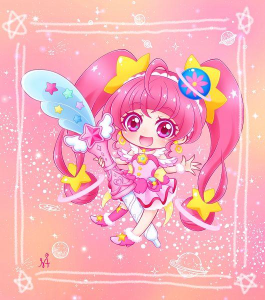 Tags: Anime, Pixiv Id 1015042, Star☆Twinkle Precure, Hoshina Hikaru, Cure Star, Fanart, Fanart From Pixiv, Pixiv