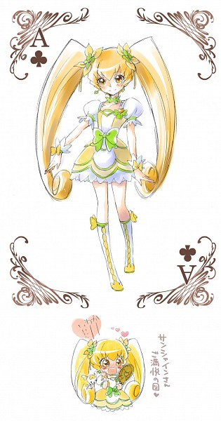 Tags: Anime, Ryun (Pixiv1682572), Dokidoki! Precure, Heartcatch Precure!, Myoudouin Itsuki, Cure Sunshine, Potpourri, Cure Rosetta (Cosplay), Fanart From Pixiv, Pixiv, Fanart