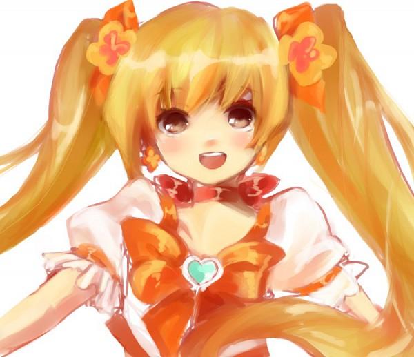 Tags: Anime, Pixiv Id 532633, Heartcatch Precure!, Myoudouin Itsuki, Cure Sunshine, Watercolor, Traditional Media, Pixiv, Fanart