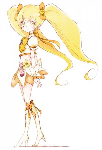 Tags: Anime, Pixiv Id 819551, Heartcatch Precure!, Myoudouin Itsuki, Cure Sunshine, Yellow Skirt, Fanart, Fanart From Pixiv, Pixiv