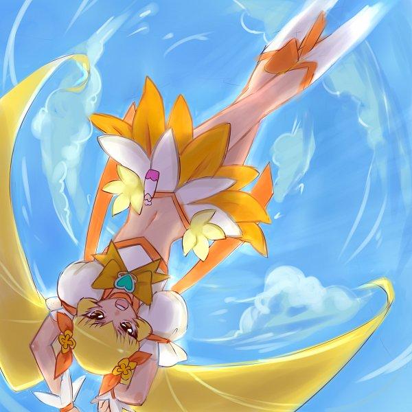 Tags: Anime, Nijigami Rin, Heartcatch Precure!, Myoudouin Itsuki, Cure Sunshine, Yellow Skirt, Fanart From Pixiv, Pixiv, Fanart, Twitter