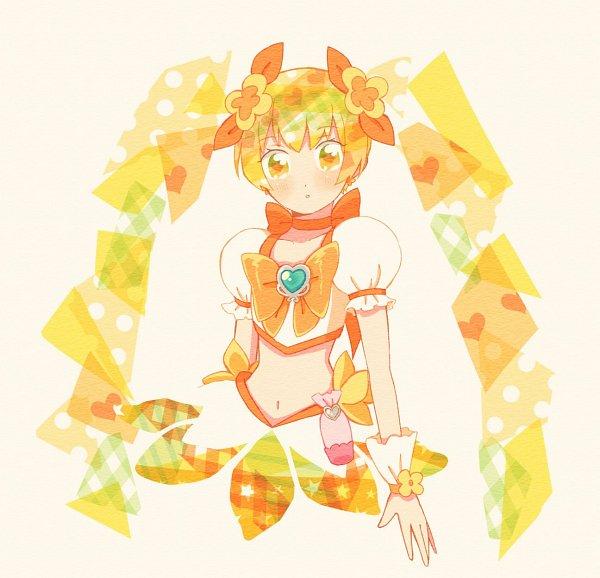 Tags: Anime, Pixiv Id 23533606, Heartcatch Precure!, Myoudouin Itsuki, Cure Sunshine, Yellow Skirt, Twitter, Fanart