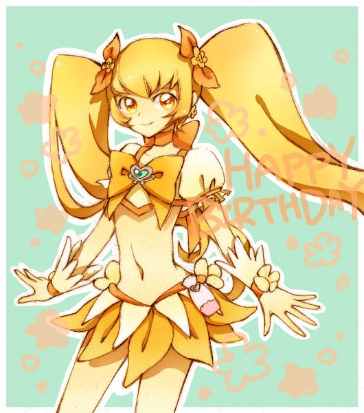 Tags: Anime, Pixiv Id 1275598, Heartcatch Precure!, Cure Sunshine, Myoudouin Itsuki, Yellow Skirt, Fanart, Fanart From Pixiv, Pixiv