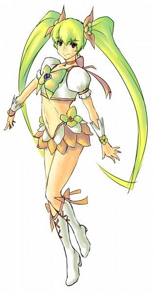 Tags: Anime, Pixiv Id 1215237, Heartcatch Precure!, Myoudouin Itsuki, Cure Sunshine, Yellow Skirt, Fanart From Pixiv, Pixiv, Fanart
