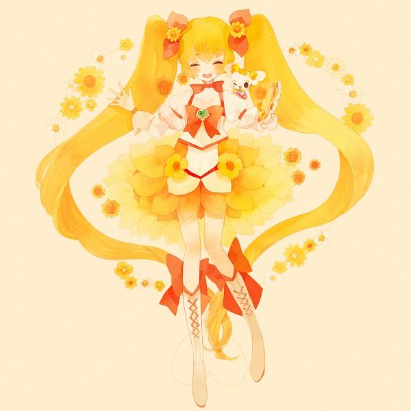 Tags: Anime, Pechika, Heartcatch Precure!, Potpourri, Myoudouin Itsuki, Cure Sunshine, Yellow, Bright Colors, Pixiv