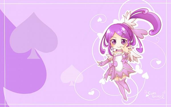 Tags: Anime, Pixiv Id 4507006, Dokidoki! Precure, Kenzaki Makoto, Cure Sword, Spade (Card), Wallpaper, Fanart, Fanart From Pixiv, Pixiv