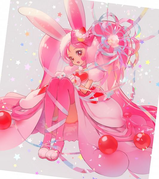 Tags: Anime, Yukiumisaka, Kirakira☆Precure a la Mode, Usami Ichika, Cure Whip, Gown, Fanart, Twitter