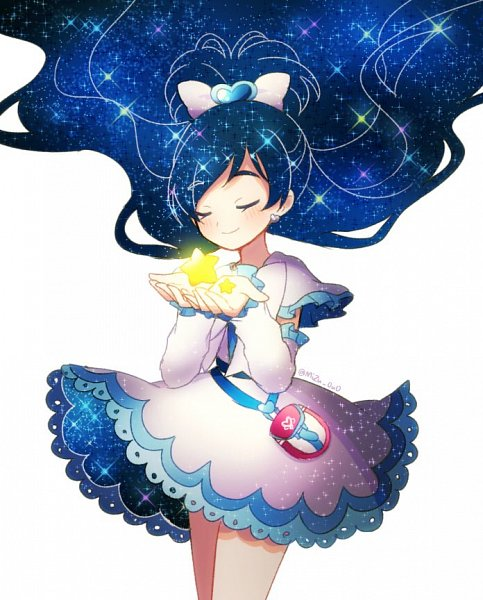 Tags: Anime, Pixiv Id 23533606, Futari wa Precure, Cure White, Yukishiro Honoka, Galaxy Print, Twitter, Fanart From Pixiv, Fanart, Pixiv