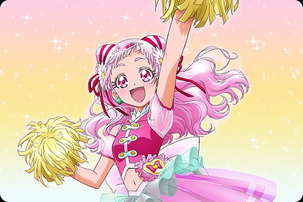 Tags: Anime, Kawamura Toshie, Toei Animation, HUGtto! Precure, Nono Hana, Cure Yell, Cover Image, Official Art