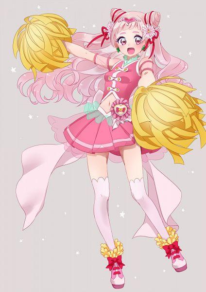 Tags: Anime, Yuuma (Pixiv771064), HUGtto! Precure, Cure Yell, Nono Hana, Pixiv, Fanart, Fanart From Pixiv