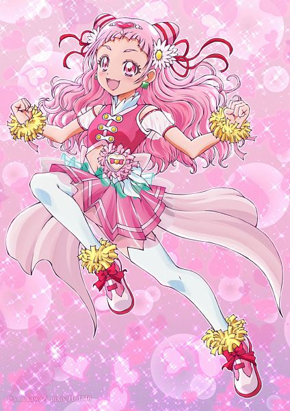 Tags: Anime, Pixiv Id 1161116, HUGtto! Precure, Nono Hana, Cure Yell, Fanart From Pixiv, Pixiv, Fanart