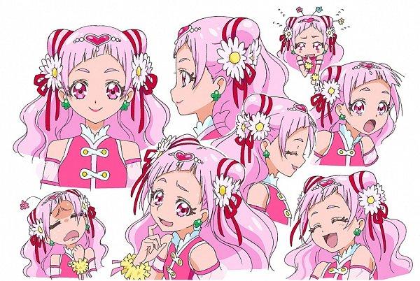 Tags: Anime, Kawamura Toshie, Toei Animation, HUGtto! Precure, Nono Hana, Cure Yell, Official Art, Character Sheet