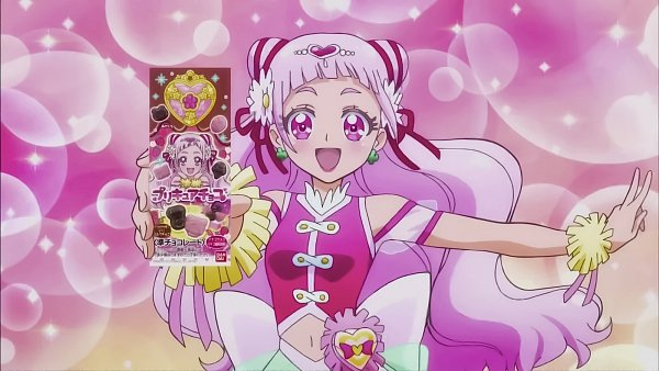 Tags: Anime, Toei Animation, HUGtto! Precure, Nono Hana, Cure Yell, 1600x900 Wallpaper, Screenshot, Product Advertising