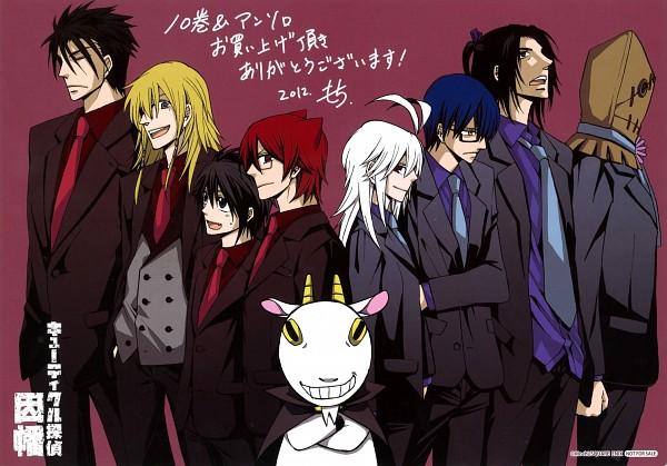 Tags: Anime, Cuticle Tantei Inaba, Nozaki Kei, Yatarou (Cuticle Detective), Inaba Hiroshi, Ogino Kuniharu, Soumei-san, Lorenzo (Cuticle Detective), Inaba Haruka, Don Valentino, Ogata Yuzuki, Goat, Scan
