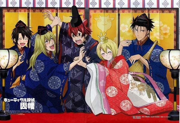 Tags: Anime, Cuticle Tantei Inaba, Sasaki Yuuta, Inaba Hiroshi, Ogata Yuzuki, Ogino Kuniharu, Nozaki Kei, Official Art, Scan