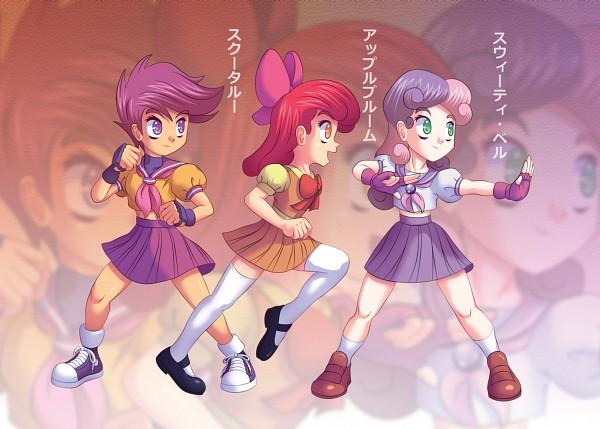 Tags: Anime, Agu-fungus, My Little Pony, Apple Bloom, Scootaloo, Sweetie Belle, deviantART, Fanart, Fanart From DeviantART, Cutie Mark Crusader