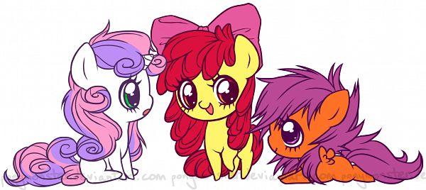 Tags: Anime, Ponymonster, My Little Pony, Scootaloo, Sweetie Belle, Apple Bloom, Petasus, deviantART, Fanart, Fanart From DeviantART, Cutie Mark Crusader