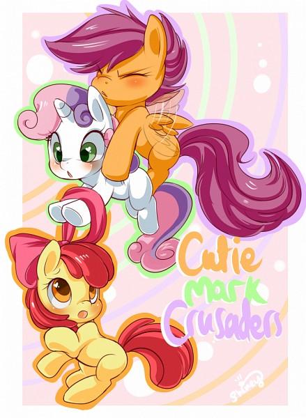 Tags: Anime, Shineymagic, My Little Pony, Sweetie Belle, Apple Bloom, Scootaloo, deviantART, Fanart, Fanart From DeviantART, Cutie Mark Crusader