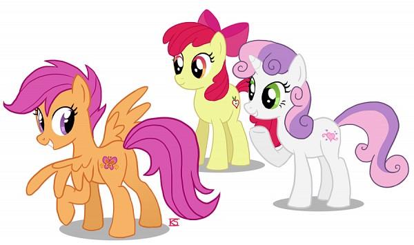 Tags: Anime, Glamourkat, My Little Pony, Scootaloo, Sweetie Belle, Apple Bloom, Cutie Mark, Fanart, Fanart From DeviantART, deviantART, Cutie Mark Crusader