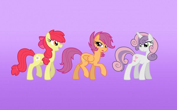 Tags: Anime, Equestria-prevails, My Little Pony, Sweetie Belle, Apple Bloom, Scootaloo, Cutie Mark, deviantART, Fanart, Fanart From DeviantART, Cutie Mark Crusader