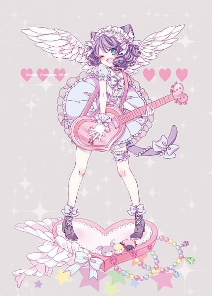 Tags: Anime, xxmlkxx, Show by Rock!!, Cyan (Show by Rock!!), Mobile Wallpaper, Fanart, Pixiv