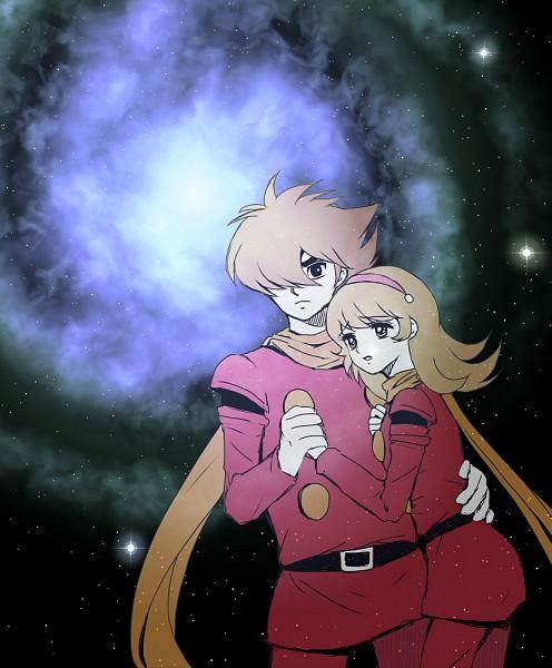 Tags: Anime, Chako (Pixiv1481876), Cyborg 009, Françoise Arnoul, Joe Shimamura, Fanart From Pixiv, Fanart, Pixiv