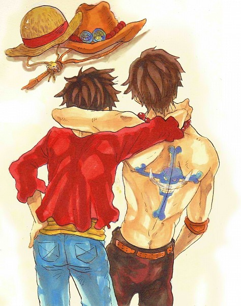 Tags: Anime, Pixiv Id 1849214, ONE PIECE, Portgas D. Ace, Monkey D. Luffy, Fanart, Pixiv, Fanart From Pixiv, Straw Hat Pirates, Whitebeard Pirates, The Eleven Supernovas, D. Brothers