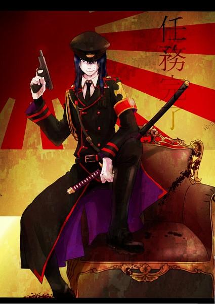 Tags: Anime, Pixiv Id 3015020, D.Gray-man, Kanda Yuu, Mobile Wallpaper, Fanart, Pixiv