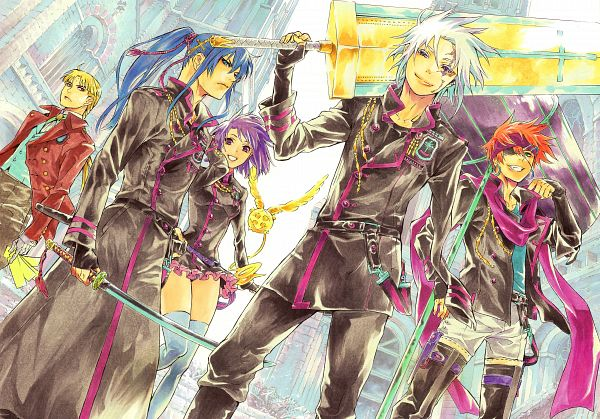 Tags: Anime, Hoshino Katsura, D.Gray-man, Noche - D.Gray-man Illustrations Artbook, Timcanpy, Broadsword, Mugen (Innocence), Exorcist, Manga Color, Official Art, Scan