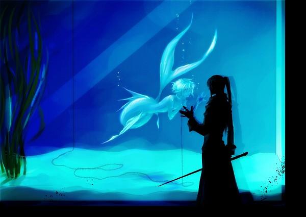 Tags: Anime, Pixiv Id 3015020, D.Gray-man, Kanda Yuu, Allen Walker, Aquarium