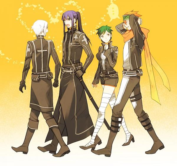 Tags: Anime, Ginmu, D.Gray-man, Lenalee Lee, Kanda Yuu, Lavi, Allen Walker, Fanart, Pixiv