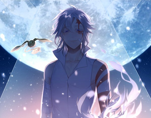 Tags: Anime, Miyamotokannn, D.Gray-man, Timcanpy, Allen Walker, Colored Eyelashes, Backlight, Golem, Moonbeam, Eyes Half Closed, Fanart, PNG Conversion, Twitter