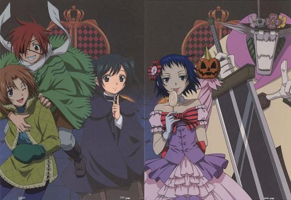 Tags: Anime, D.Gray-man, Lenalee Lee, Lavi, The Millenium Earl, Allen Walker, Road Kamelot, Lero, Official Art