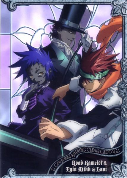 Tags: Anime, D.Gray-man, Road Kamelot, Tyki Mikk, Lavi, Mobile Wallpaper, Official Art