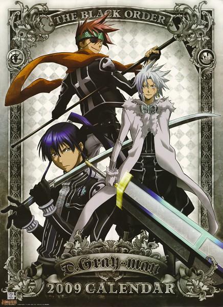 Tags: Anime, D.Gray-man, Kanda Yuu, Lavi, Allen Walker, Mobile Wallpaper, Official Art, Scan