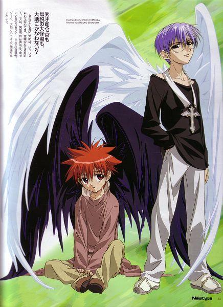 Tags: Anime, Yamaoka Shinichi, Xebec, D.N.Angel, Hiwatari Satoshi, Niwa Daisuke, Newtype Magazine (Source), Official Art, Scan, Magazine (Source)