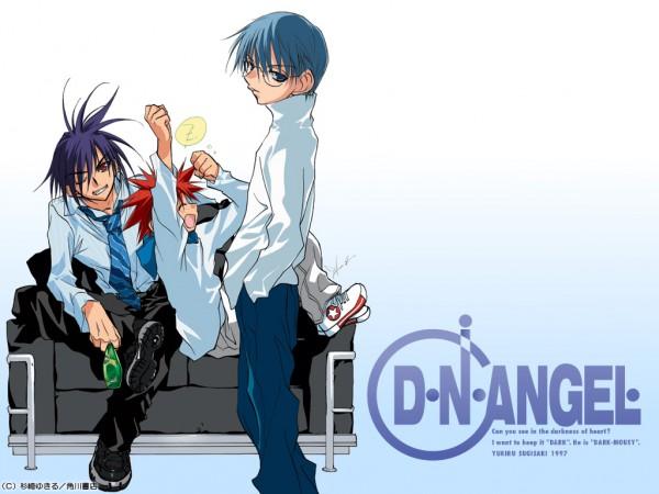 Tags: Anime, Sugisaki Yukiru, D.N.Angel, Dark Mousy, Hiwatari Satoshi, Niwa Daisuke, Yawn, Wallpaper