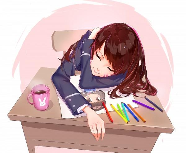 Tags: Anime, Pixiv Id 5991135, Overwatch, D.Va, Drawing (Object), Lip Gloss, Steam, Color Pencils, Fanart From Pixiv, Fanart, PNG Conversion, Pixiv