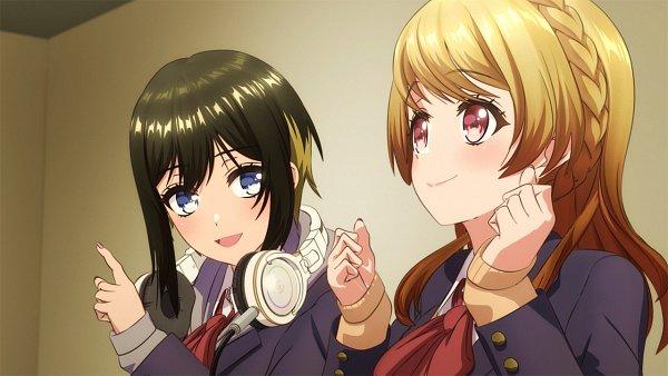 Tags: Anime, SANZIGEN, Dig Delight Direct Drive DJ, D4DJ First Mix, Akashi Maho, Aimoto Rinku, Screenshot, Happy Around!