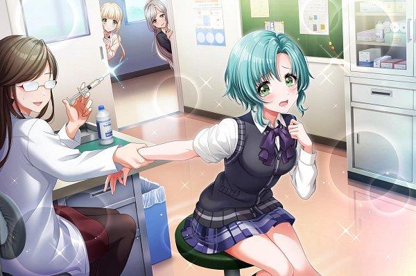 Tags: Anime, Dig Delight Direct Drive DJ, D4DJ Groovy Mix, Niijima Ibuki, Hanamaki Towa, Fukushima Noa, Official Card Illustration, Official Art