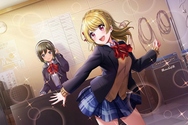 Tags: Anime, Dig Delight Direct Drive DJ, D4DJ Groovy Mix, Akashi Maho, Aimoto Rinku, Official Card Illustration, Official Art