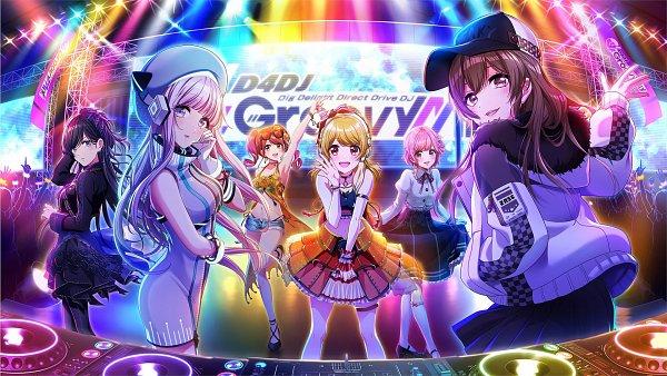 Tags: Anime, Dig Delight Direct Drive DJ, D4DJ Groovy Mix, Yamate Kyouko, Sakurada Miyu, Aimoto Rinku, Aoyagi Tsubaki, Seto Rika, Izumo Saki, Disc Jockey, All Girls (Genre Equality), Audience, Official Art