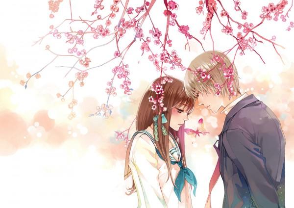 Tags: Anime, Tung&daisy, DAISY (Artist), Daisy (Flower), Head to Head, Spring, Pixiv, Original, Collaboration